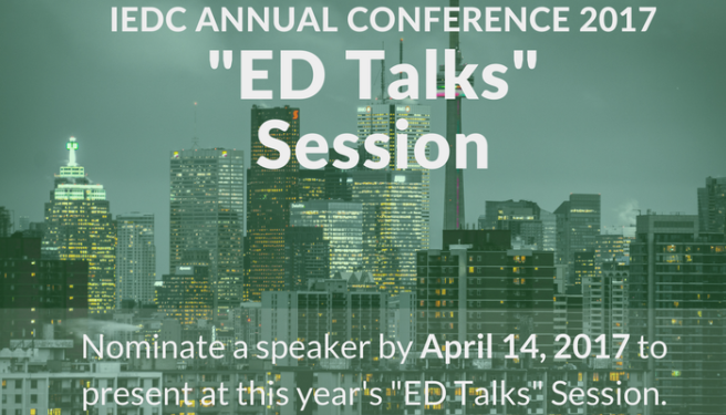 "Ready to Give the Presentation of Your Life? ""ED TALKS"" Nominations Are Now Open"